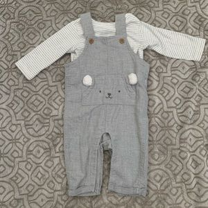 Carters Bear Overalls and Shirt